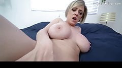 Thick ass MILF gets titty fucked. Hot busty whore fucks