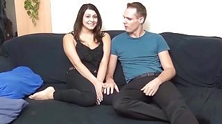 German BBW Teen July Johnson at No Condom Fandate Swallow