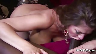 Milf Seduce Black Friend of her Step Son to Fuck her when alone