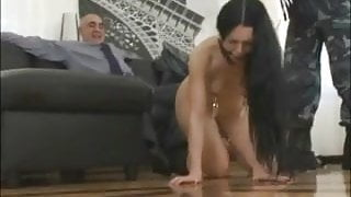A beauty is turned into a mess after humiliating ass fuck