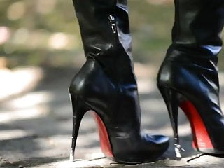 Amateur boots The best hooker:exhibitionist in microskirthigh heels boots