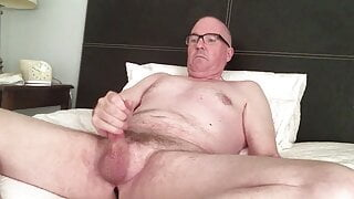 Cute DILF, JC, Strokes His Small Cock and Eats His Load