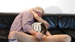 Nice old daddy plays & fucks cross dresser