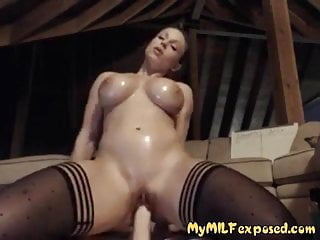 Expose sexy - My wife exposed sexy stockings shaved pussy and big toy