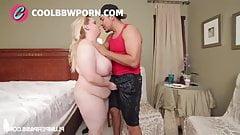 Bbw rubia interracial