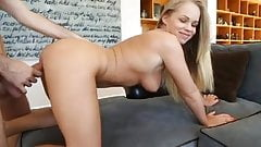 Blonde doing what shes good at