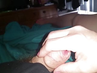 Uncut foreskin back forth dick Gently stroking my uncut foreskin cock