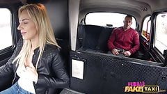 Female Fake Taxi Spanish guy fucks the blonde taxi driver