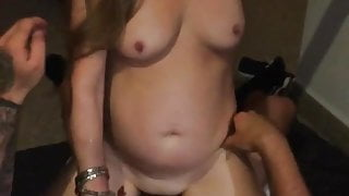 Filming his wife with friend