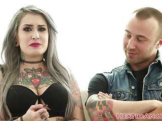 Inked Emo Slut Screwed And Facialized