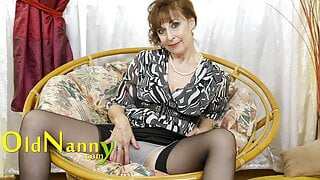 OLDNANNY – Mature Lady Dana Does Lonely Striptease And Shows Natural Body