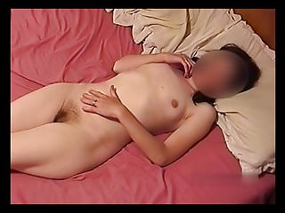 Naked man with hairy chest - Girl with hairy pussy laying naked on bed.mp4