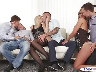 Free bi orgy clips - Bisexual jock cockriding in bi orgy