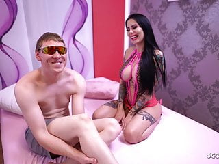 Guy first blowjob Nerd guy first time join german big tits teen in threesome