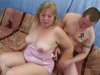 Old chubby tgp Old chubby blonde takes cum up both nostrils