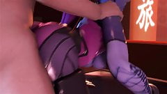 Overwatch – Widowmaker blowjob and anal