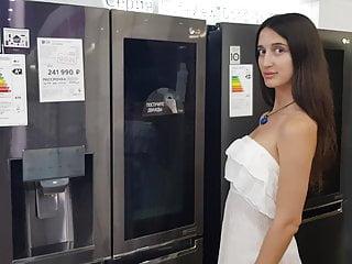Thumb girl blonde fridge nude - See what a cool fridge