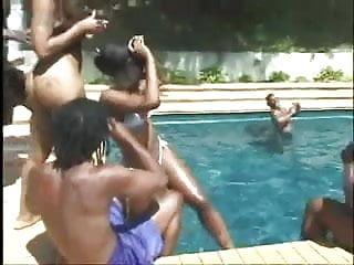 Adina black exploited teen Adina jewel aka pebbles - ebony poolside orgy