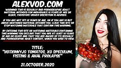 Hotkinkyjo tomatos, xo speculum, fisting & anal prolapse