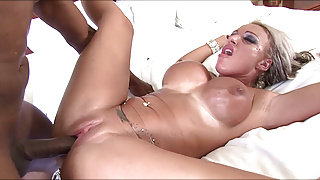 Big Titted Carmen Jaye Gets Face Fucked by Big Black Cock