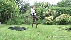British Steph in bondage mode . . .