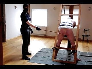 Femdom caning Very hard caning session