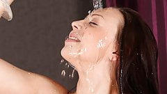 Blue Eyed Beauty Drinks Her Own Pee