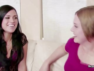 Free lesbian mother and step daughter - Milf mother show teen step-daughter how to fuck