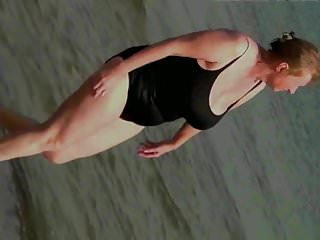 Sexy ass in swimsuit Spy beach mature with sexy granny gilf in swimsuit huge tits