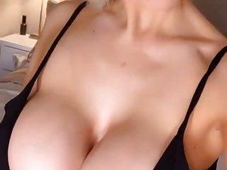 Skinny wife fake tits pictures Louise jenson black dress - veiny fake tits