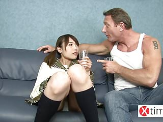 Baby doll lingerie for men Baby doll japanese girl, her first big white cock
