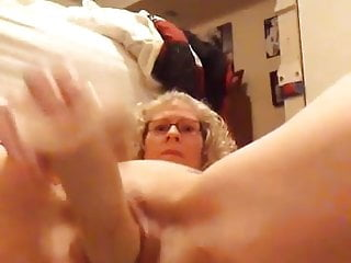 Watching her shake thoughs big tits - Love watching her pound her pussy