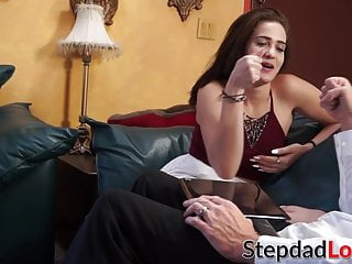 Giving daddy a handjob password - Stepdaughter gives daddy handjob before fucking wildly