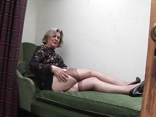 Granny phyllis upskirt - Hairy granny upskirt and pussy tease