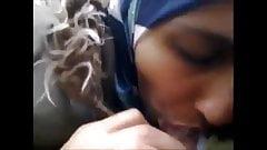Amazing blowjob wearing a hijab
