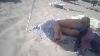 Culona in spiaggia
