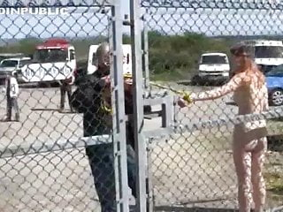 Dreambook naked humiliation Bound naked in public and hosed down