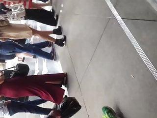 Dress long vintage White milf showing thong in long dress 2