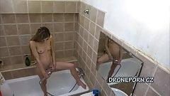 Long Hair Adela, Czech teen in the shower