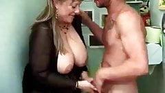 mature big tits masturbation bath