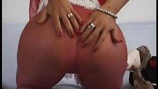 red hose dildo lady
