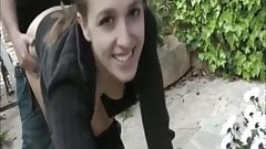 stunning teen likes hot anal sex outdoor