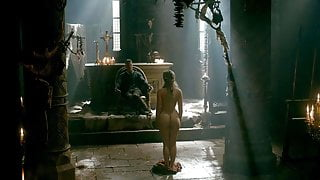Alicia Agneson Nude Butt & Tits in Vikings -ScandalPlanetCom