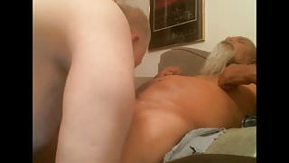 grandpa play and suck on webcam