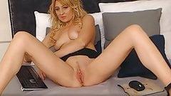 Classy Blonde Webcam MILF Undresses And Masturbates Online