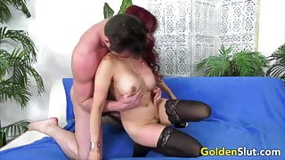 Golden Slut - Sexy Matures Drilled on All Fours, Compilation
