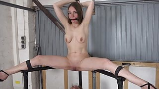 Fisted with legs spread wide