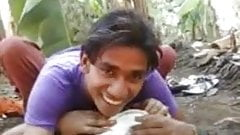 Indian village girls and boy in the jungle, mai cudai