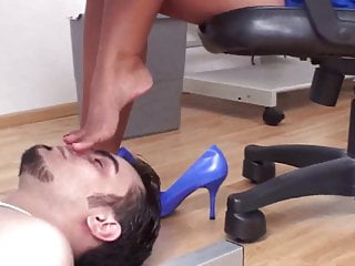 Dominant asian ladies Slaves in foot torture by dominant ladies