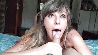 Sexy MILF Ahegao Deepthroat Eye Crossing Teaser